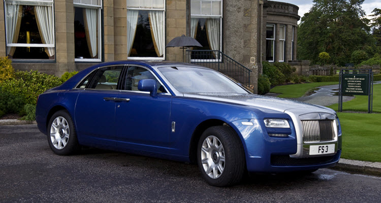 Parked Rolls Royce