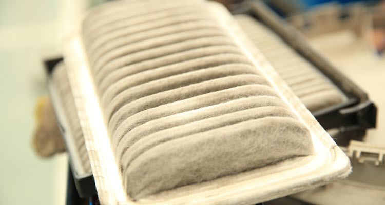 Worn Out BMW Cabin Air Filter