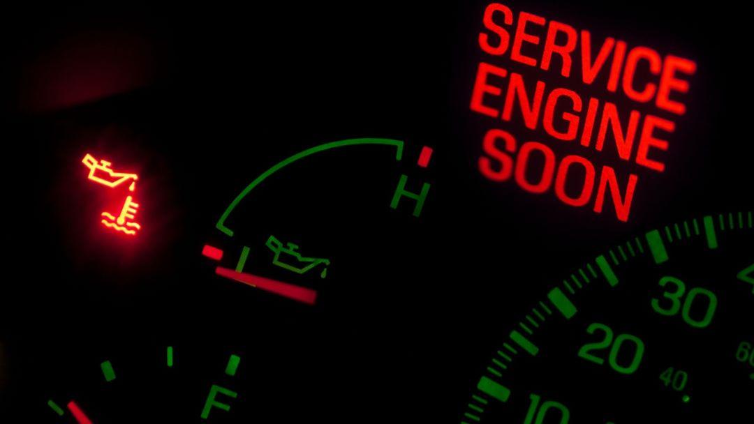 Engine Overheating Warning Light
